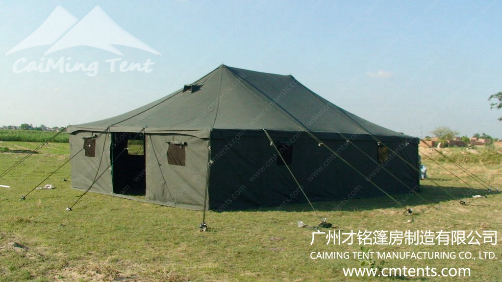 Military tent guangzhou caiming tent manufacture co for A frame canvas tents for sale