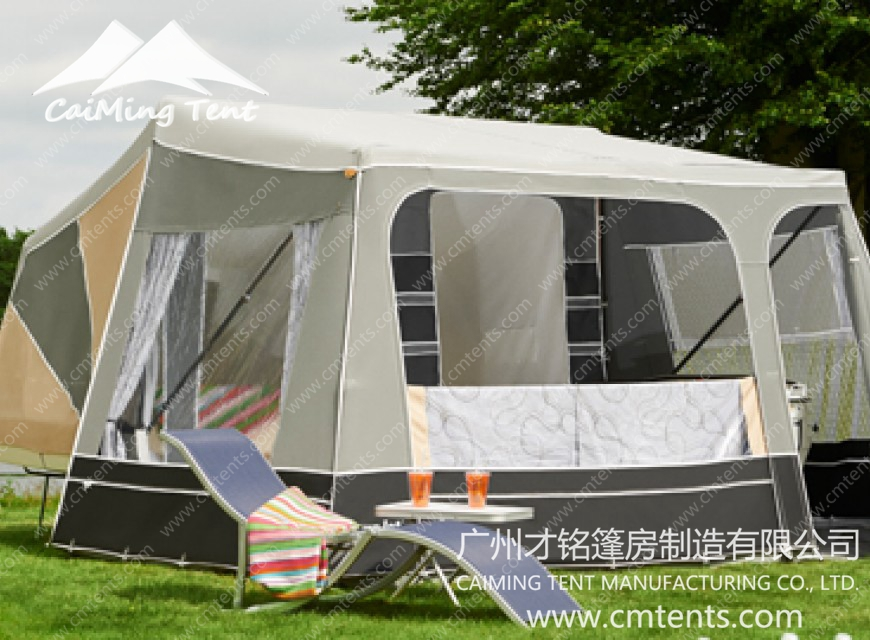 Trailer tent guangzhou caiming tent manufacture co ltd for A frame canvas tents for sale