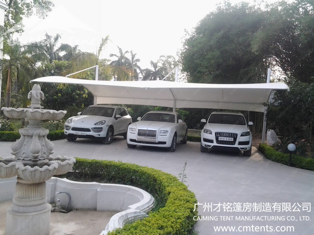 Carport tent guangzhou caiming tent manufacture co ltd for Home hardware garage packages cost