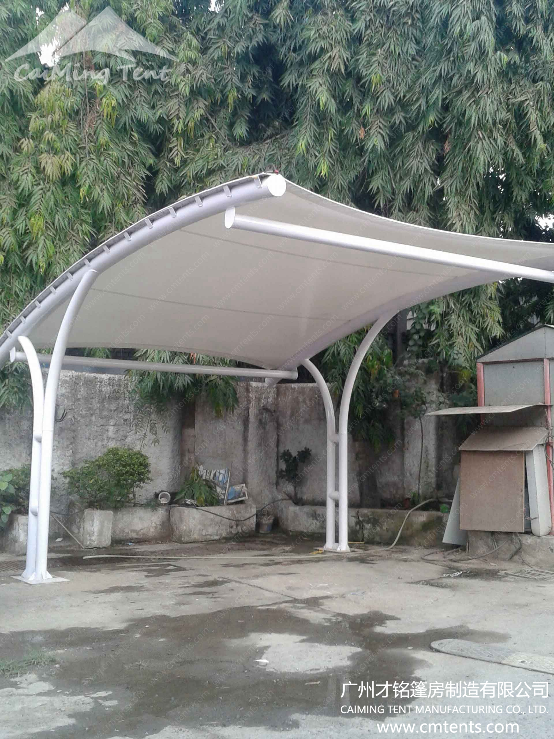 Carport tent guangzhou caiming tent manufacture co ltd for Open carports
