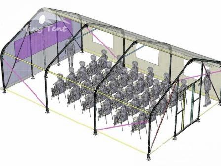 TFS Curve Tent(Peach shaped tent)